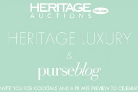 THIS THURSDAY: PurseBlog and Heritage Auctions invite you to a private preview
