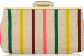Deal of the Day: J.Crew Striped Canvas Clutch