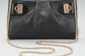 The Salvatore Ferragamo Gancini Crossbody Bag is perfect for the lady on the move