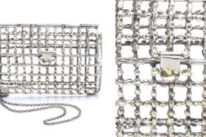 Go for total transparency with the Anndra Neen Cage Purse