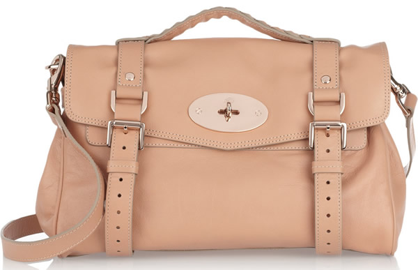 Mulberry Alexa Leather Bag In Peach Pink