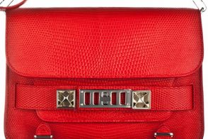 The Proenza Schouler PS11 is ravishing in red