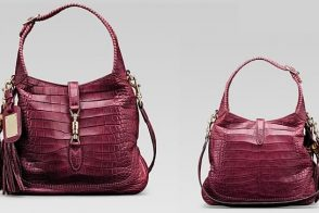 The Glamourous Gucci 1921 Collection Cherry Crocodile Shoulder Bag