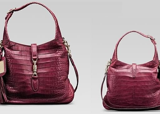 Gucci 1921 Collection Cherry Crocodile Shouler Bag