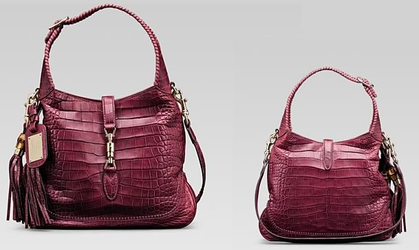 af32a28dcd21 The Glamourous Gucci 1921 Collection Cherry Crocodile Shoulder Bag ...
