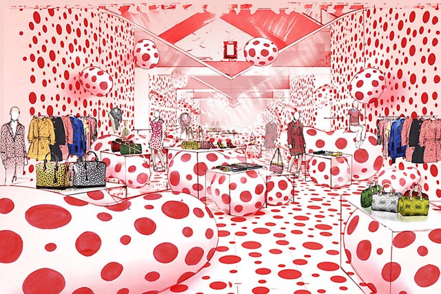 Louis Vuitton Yayoi Kusama pop up shop
