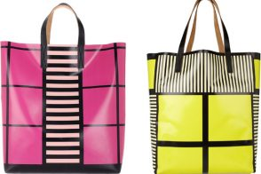 For these Marni totes, I might even consider vinyl. Really.