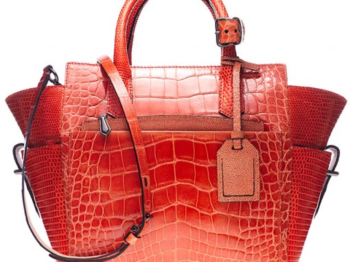 Reed_Krakoff_Orange_Croc_Satchel