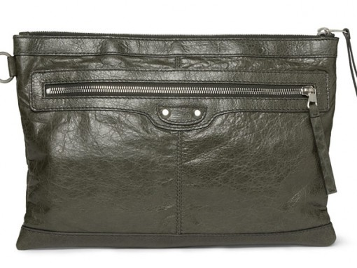 Balenciaga Creased Leather Pouch