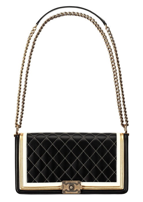 Chanel-Golden-black-and-white-leather-BOY-CHANEL- 53b6046ec