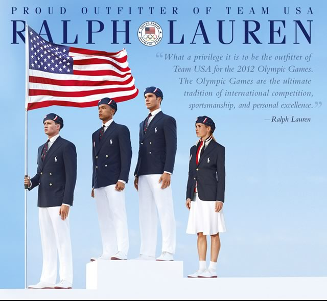 Ralph Lauren Team USA Uniforms 2012