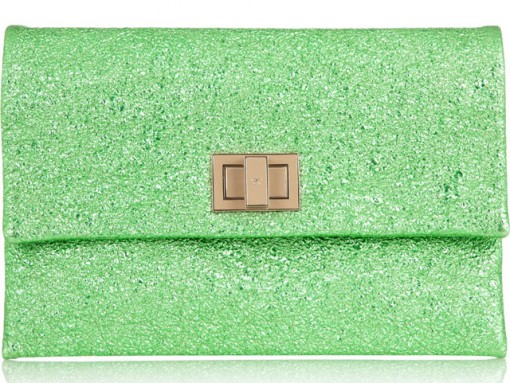 Anya Hindmarch Valerie Metallic Leather Clutch