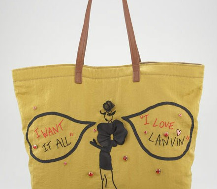 """Fill in the Blank: """"The Lanvin Sketches Shopping Bag is worth…"""""""