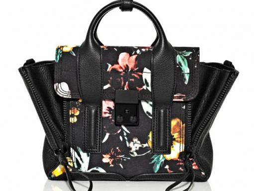 3.1 Phillip Lim Faded Botanical Printed Pashli Mini Satchel