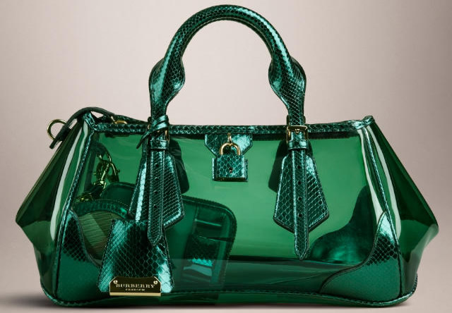 burberry bag green