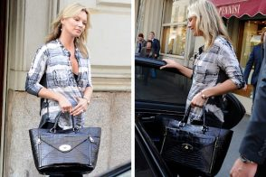 Kate Moss is the first star to rock Mulberry's new must-have Willow Tote