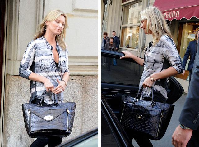 Kate Moss carries the Mulberry Willow Tote