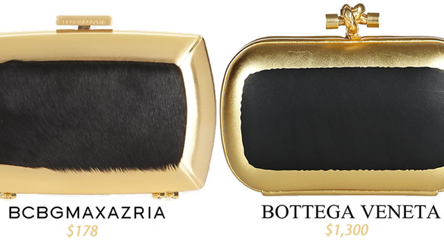 Look for less gold and black box clutch