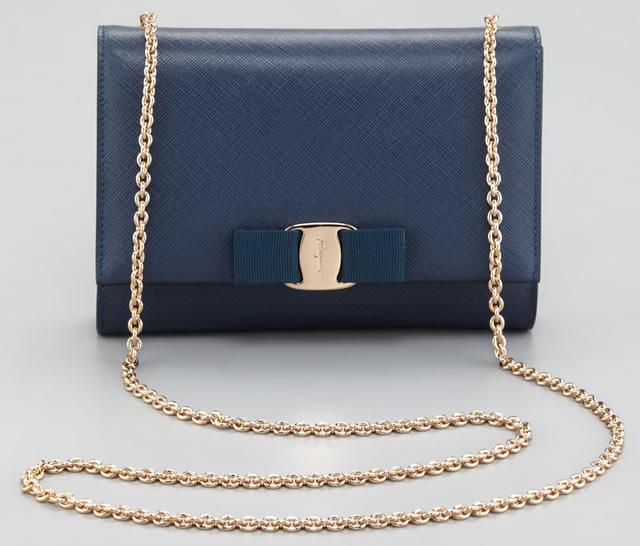 Vara clutch bag - Blue Salvatore Ferragamo YBGX3