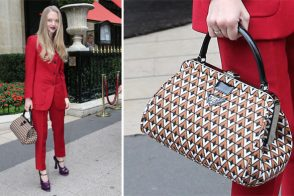 Amanda Seyfried goes avant-garde in head-to-toe Prada
