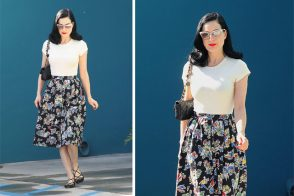 Dita von Teese looks perfect with Chanel after pilates class
