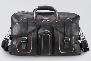 Man Bag Monday: Ferrari Leather Duffel Bag