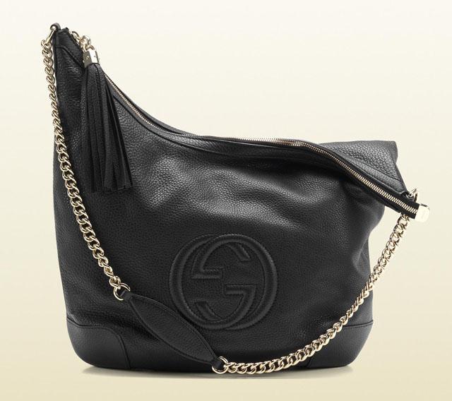 2bac21be69f Gucci Soho Leather Shoulder Bag - Black - PurseBlog