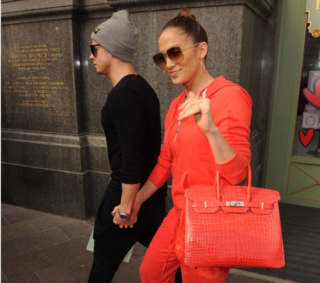 Jennifer Lopez and dancer boyfriend Casper Smart go shopping at Harrods