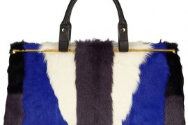 Lanvin Colorblock Goat Hair Tote