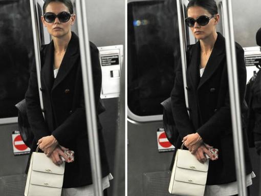 Name that Bag: Katie Holmes White Top-handle