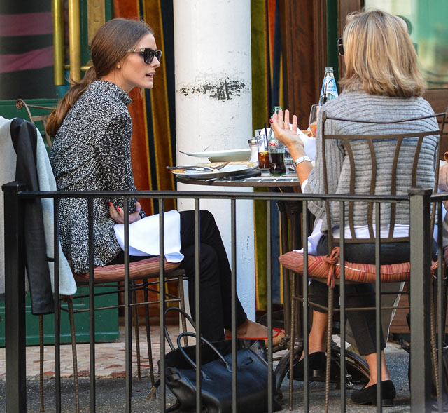 Olivia Palermo and Johannes Huebl brunch in the West Village