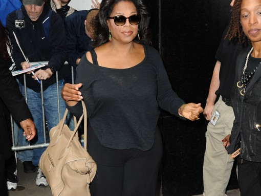 Oprah pairs Celine with fuzzy slippers