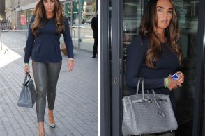 Tamara Ecclestone carries one heck of a gorgeous crocodile Hermes Birkin