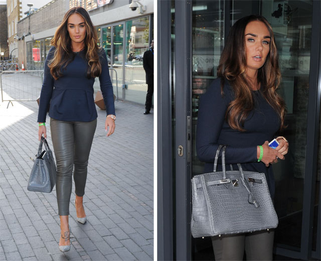 Tamara Ecclestone carries a Crocodile Hermes Birkin