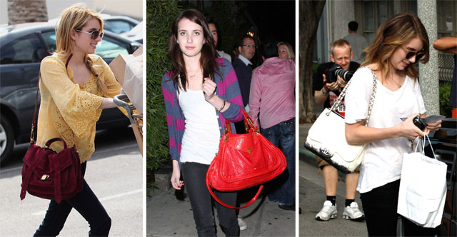 The Many Bags of Emma Roberts