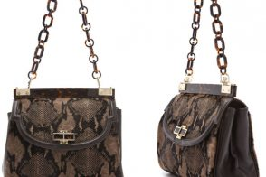 Tory Burch makes snakeskin and tortoise shell work together