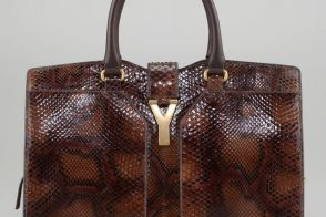 Fill in the blank: The Yves Saint Laurent ChYc Medium Python Tote Bag is…