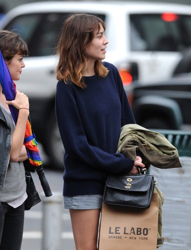 Alexa Chung shops with a friend in Nolita - PurseBlog e1d58f4581add