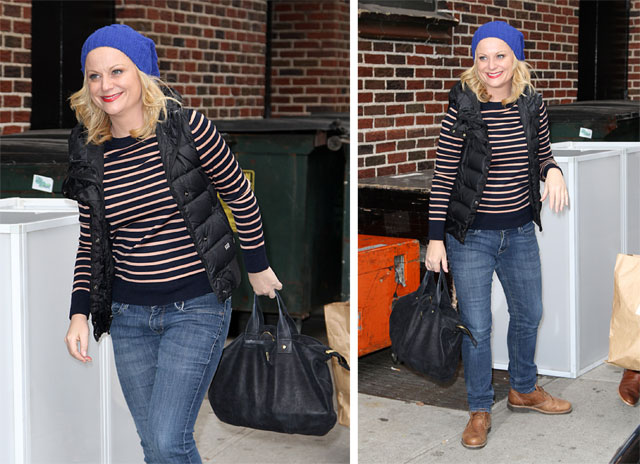 Amy Poehler Looks Casual And Comfortable With Clare Vivier Page 5 Of Purseblog