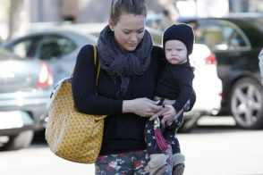 Hilary Duff uses Goyard as her baby bag