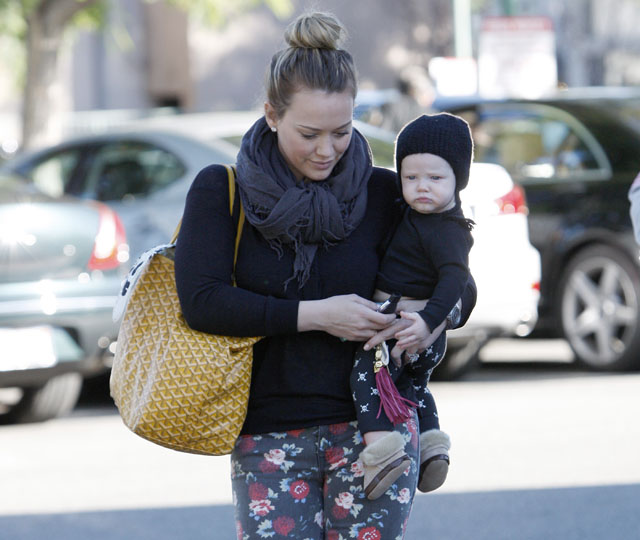 Hilary Duff Uses Goyard As Her Baby Bag Purseblog