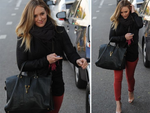 Hilary Duff carries an Yves Saint Laurent Cabas ChYc