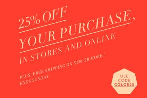 Take 25% off your total purchase at J.Crew!
