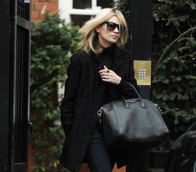 Kate Moss out and about in London.