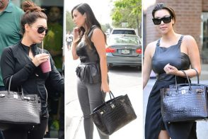 Just Can't Get Enough: Kim Kardashian and her crocodile Hermes Birkin
