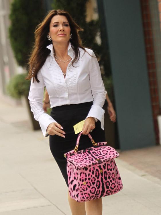 Lisa Vanderpump Pink Dolce Gabbana Leopard