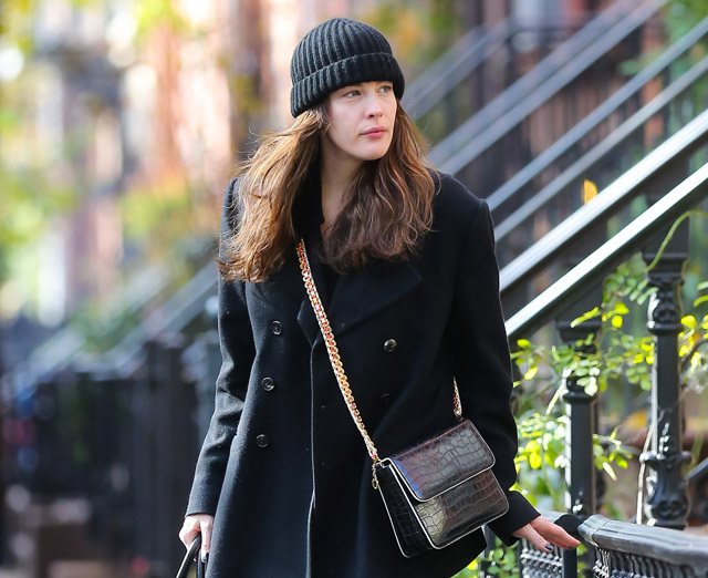 Liv Tyler is all smiles as she steps out in New York City without makeup on