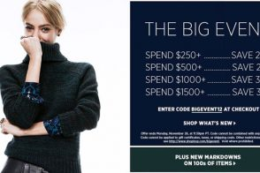 It's time for Spend More, Save More at ShopBop – up to 35% off!