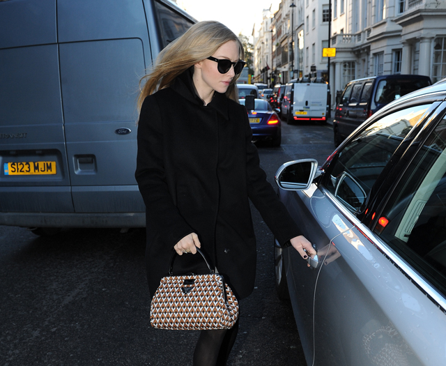 Amanda Seyfried Seen Leaving Claridges Hotel