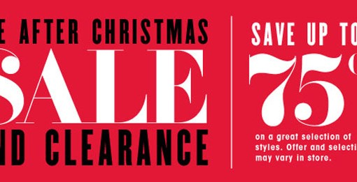 Bloomingdales After Christmas Sale and Clearance